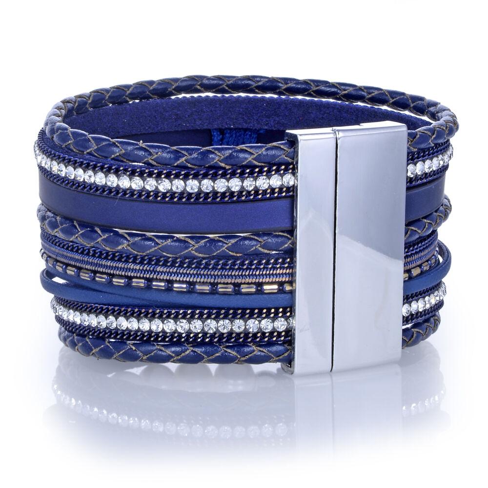 Image 2 for Navy Tree Of Life Multi Wrap Bracelet