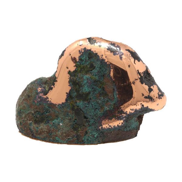 Closeup photo of Michigan Float Copper Cut Base Specimen