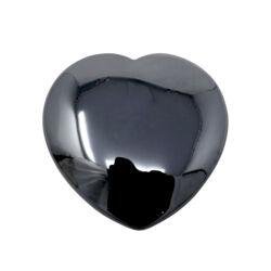 Closeup photo of Hematite Flat Heart 30mm