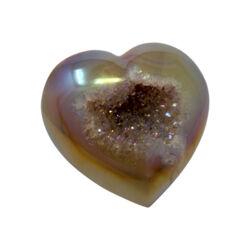 Closeup photo of Iridescent Heart -Peach Druze