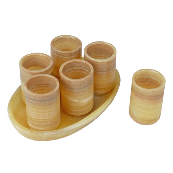 Closeup photo of Onyx Tequila Set With 6 Shot Glasses