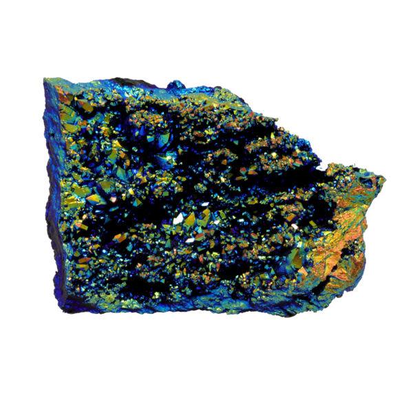 Closeup photo of Rainbow Flame Druze Moroccan Geode