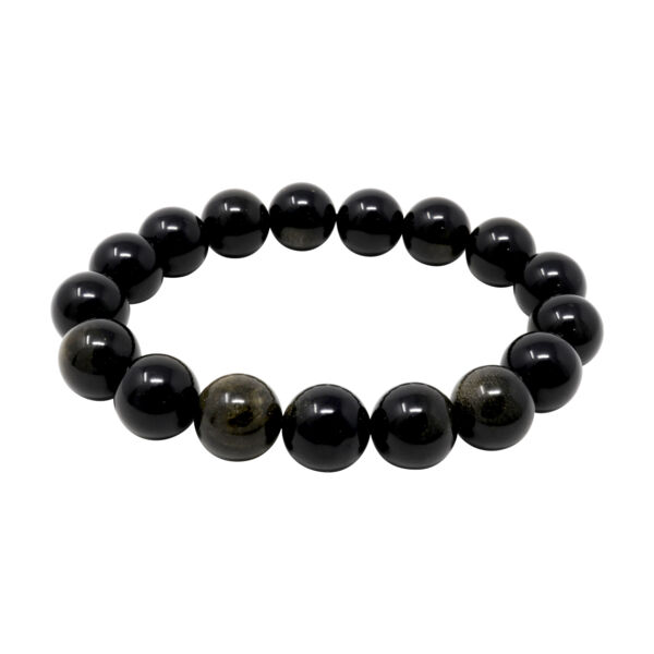 Closeup photo of Goldsheen Obsidian Bracelet 12mm