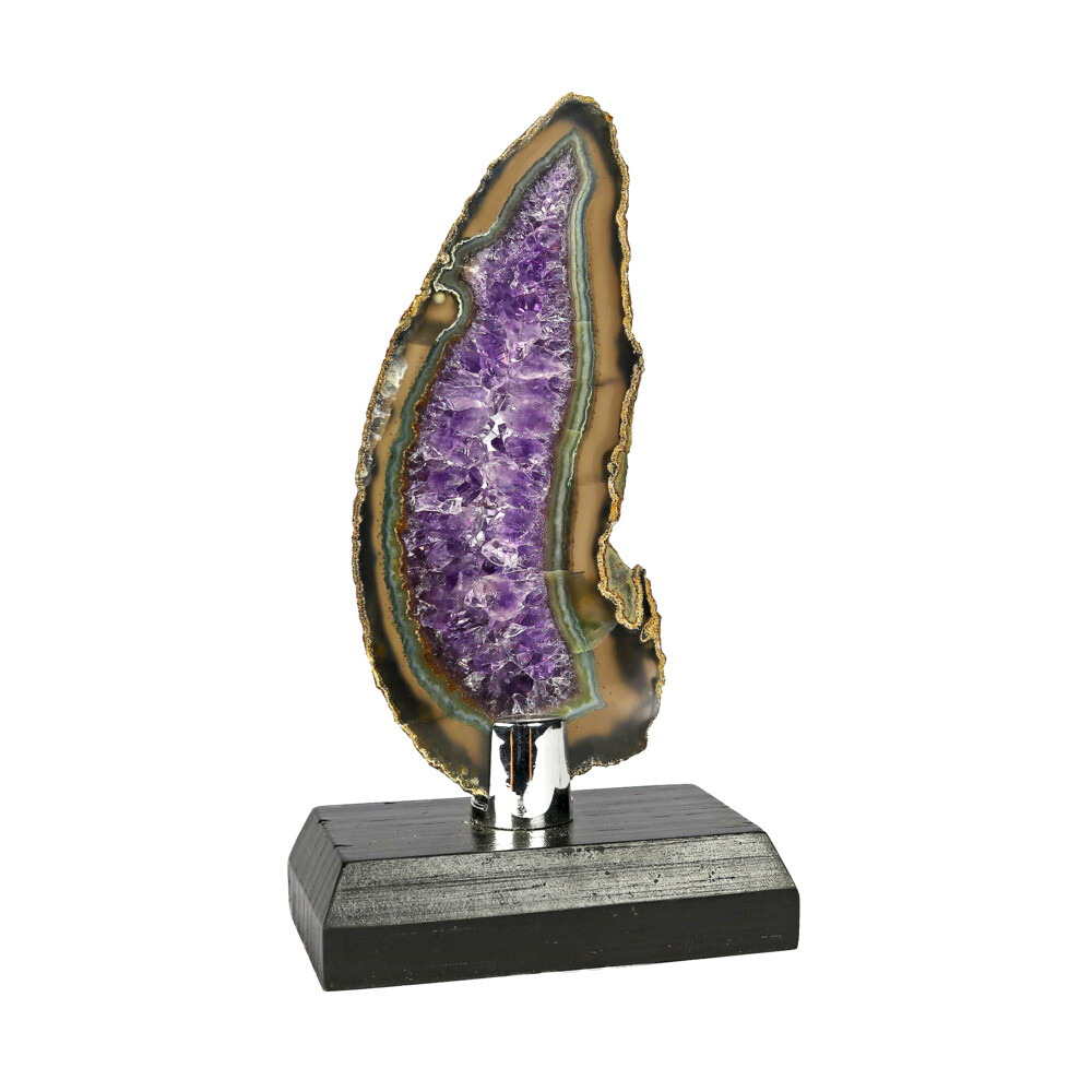 Image 2 for Agate Slice -Amethyst In Center With Brown & Green
