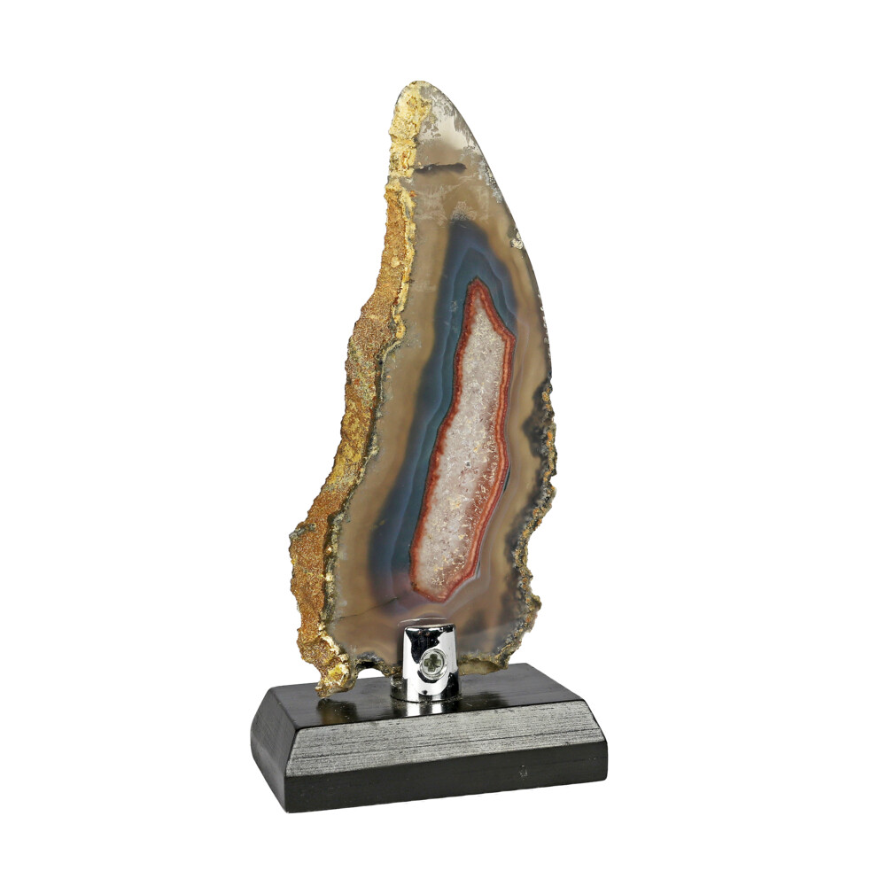 Image 2 for Agate Slice -Quartz With Blue & Brown Accents