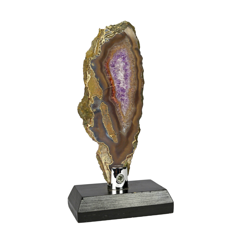 Agate Slice -Amethyst With Browns & Gray