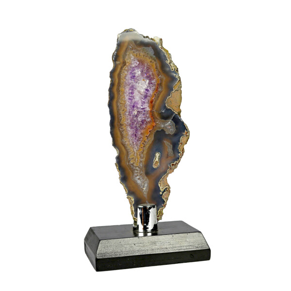 Closeup photo of Agate Slice -Amethyst With Browns & Gray