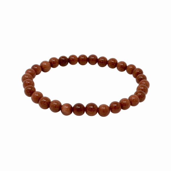 Closeup photo of Red Goldstone Bracelet 6mm Rounds