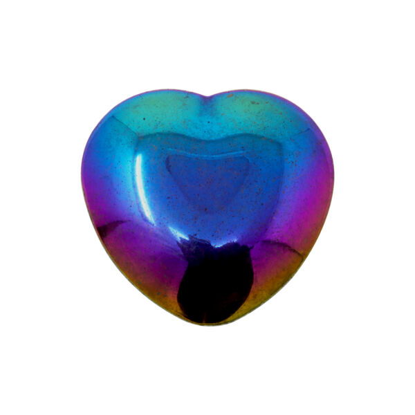 Closeup photo of Titanium Gemstone Heart 30mm