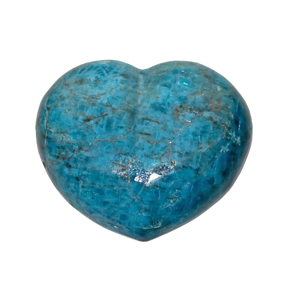 Image 2 for Blue Apatite Heart 3""