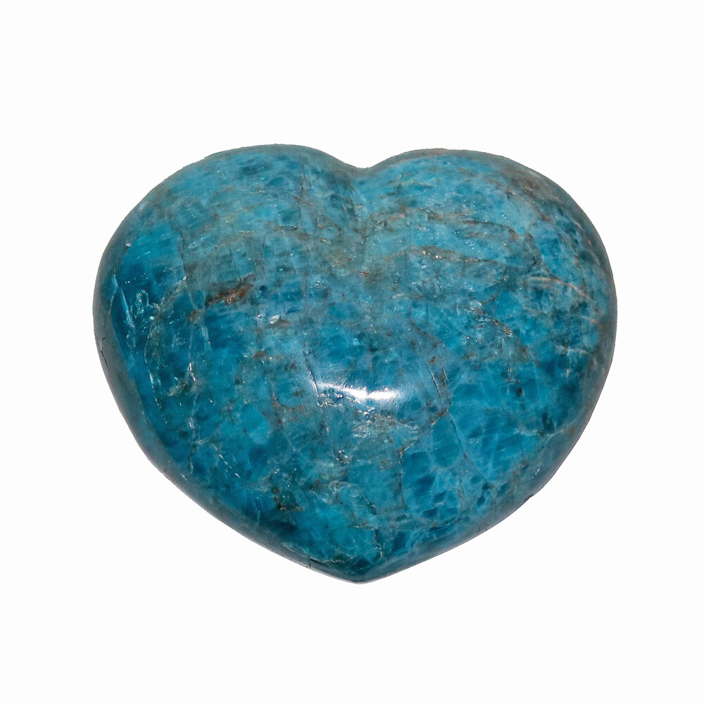 "Blue Apatite Heart 3"""