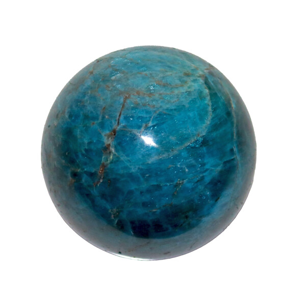 Closeup photo of Blue Apatite Sphere 50mm