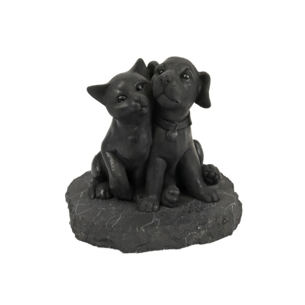 Closeup photo of Shungite Sculpture - Cat Dog
