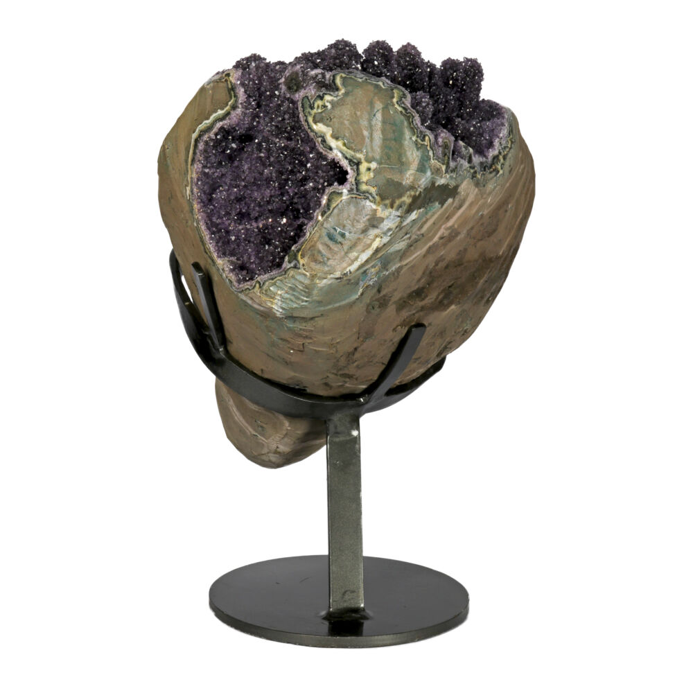 Image 2 for Amethyst Druze Geode On Custom Fitted Stand with Full Stalactites