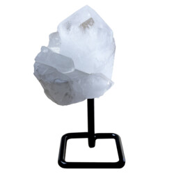 Closeup photo of Quartz Cluster On Post Stand