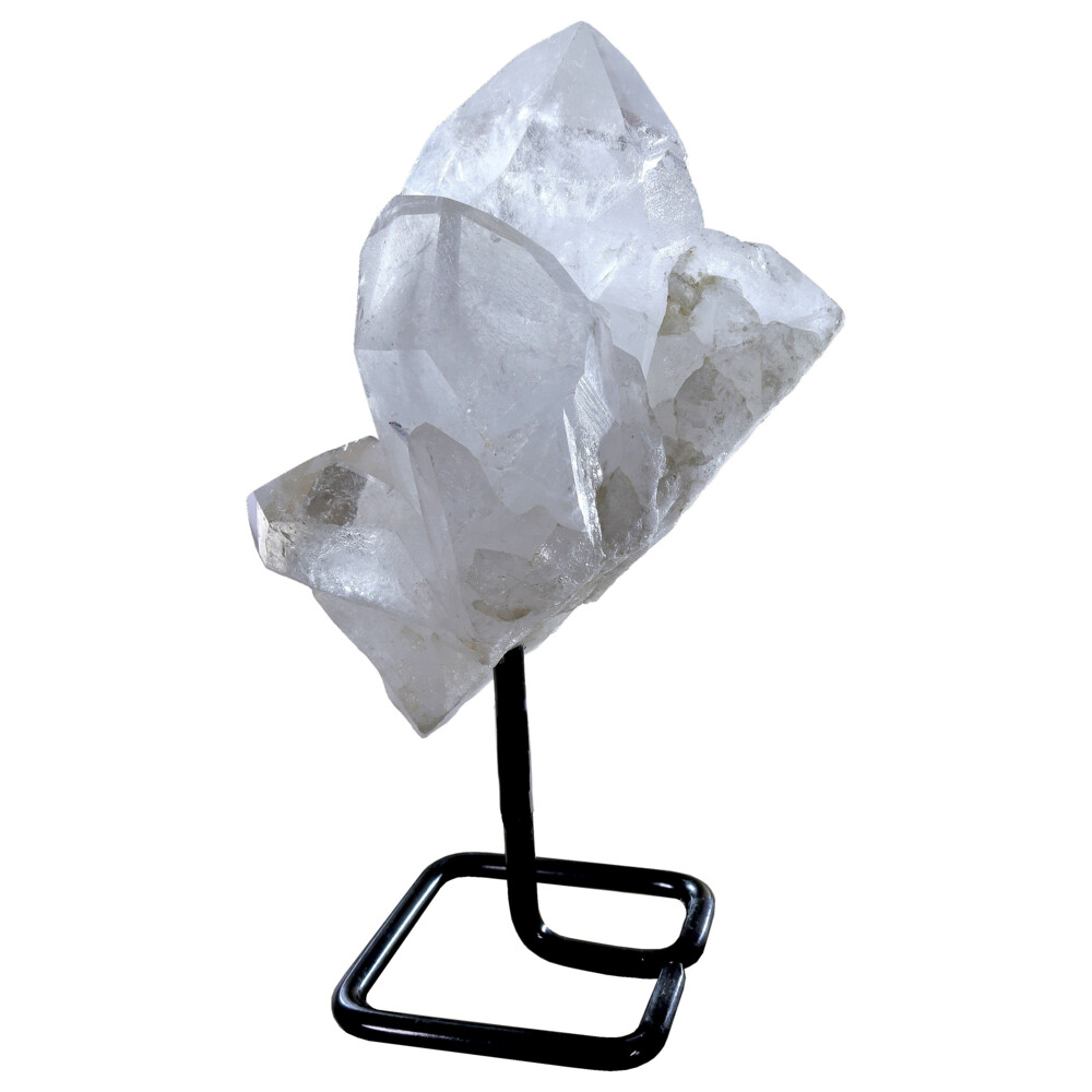 Quartz Point Cluster On Rounded Square Post Stand