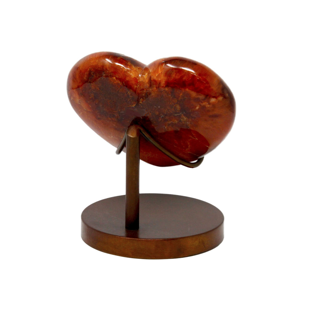 Image 2 for Carnelian Heart In Custom Stand