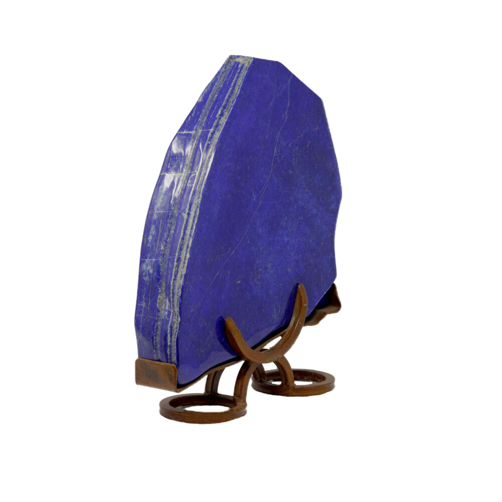 Image 2 for Lapis Lazuli Polished In Custom Horseshoe Stand