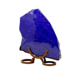 Closeup photo of Lapis Lazuli Polished In Custom Horseshoe Stand