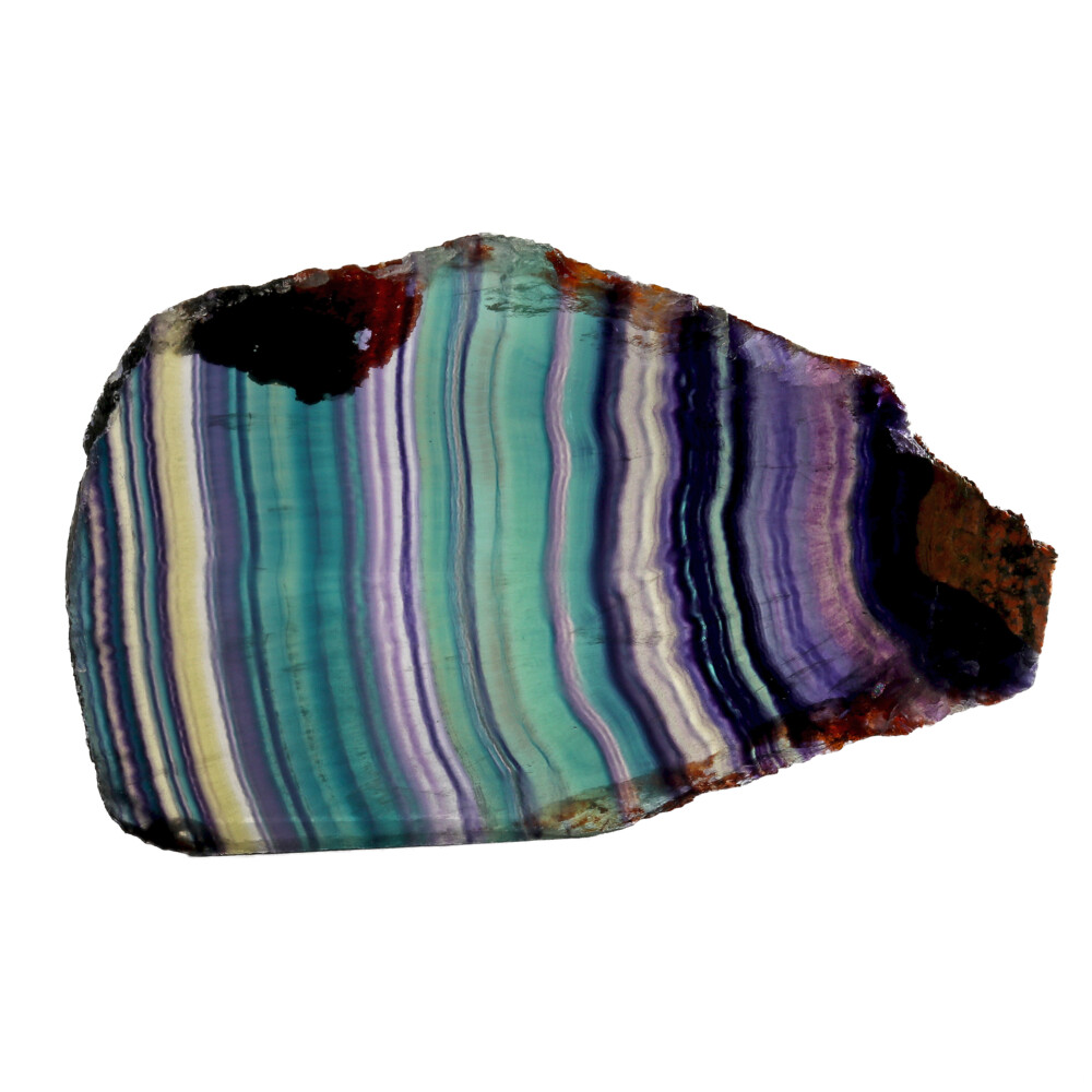 Image 2 for Rainbow Fluorite Slice With Natural Edge