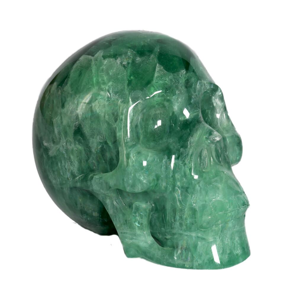 Image 2 for Green Fluorite Skull