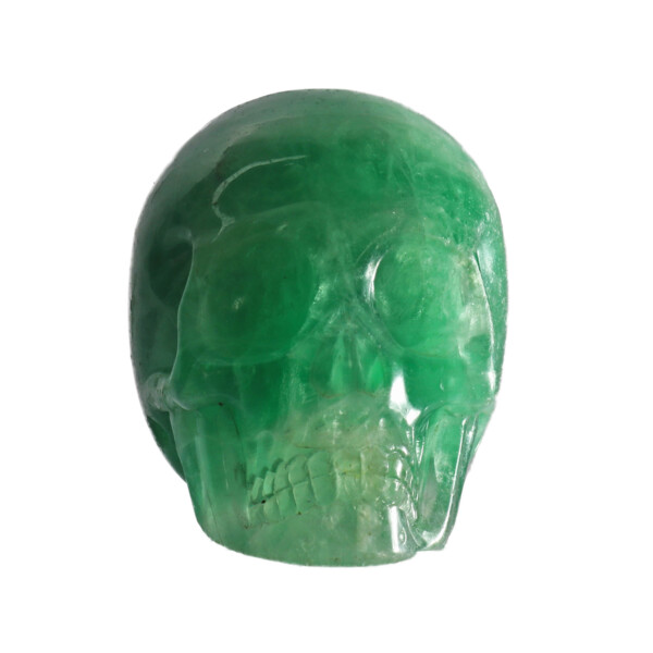 Closeup photo of Fluorite Skull Small