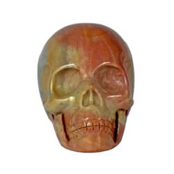 Closeup photo of Polychrome Jasper Skull