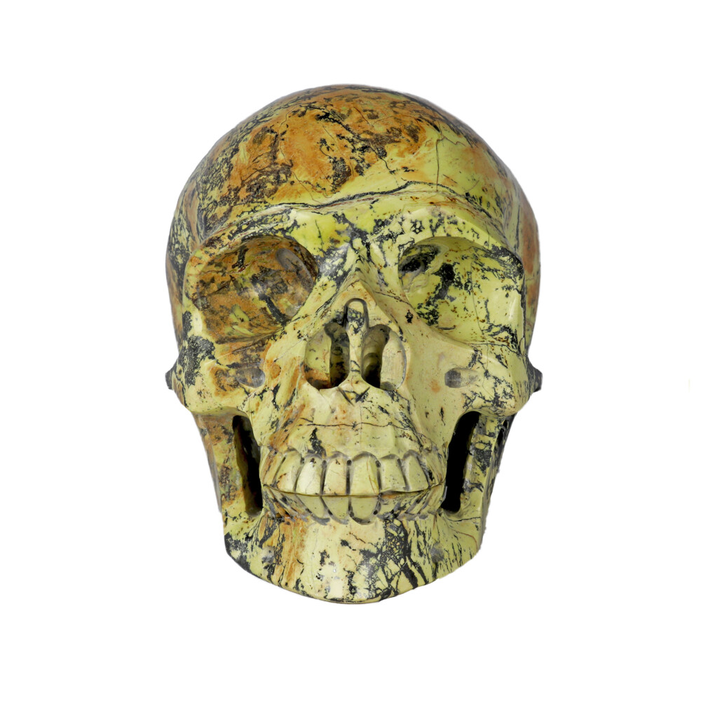 Yellow Turquoise Skull Medium
