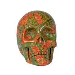 Closeup photo of Unakite Skull Small