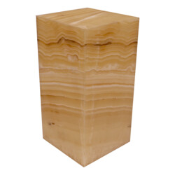 "Closeup photo of Onyx Luminary - 6"" Sq. X 12"" Light Yellow"