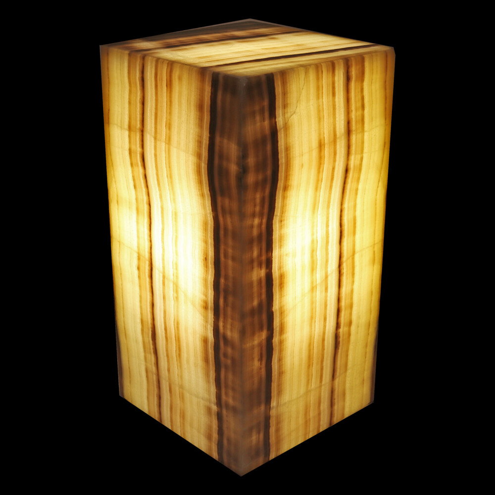 "Onyx Luminary - 6"" Sq. X 12"" Rosa"