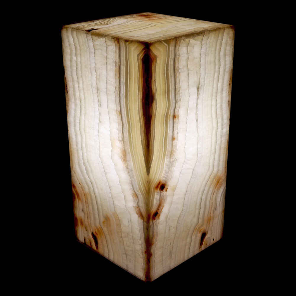 "Onyx Luminary - 6"" Sq. X 12"" Light Yellow"