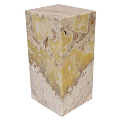 "Closeup photo of Onyx Luminary - 6"" Sq. X 12"" Nacar"