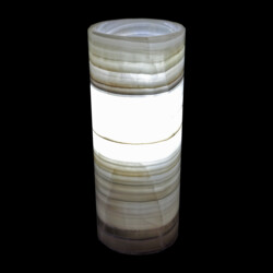 "Closeup photo of Onyx Luminary - 4.75"" Sq. X 12"" Zebra"