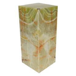 "Closeup photo of Onyx Luminary - 6"" Sq. X 13.75"" Green"