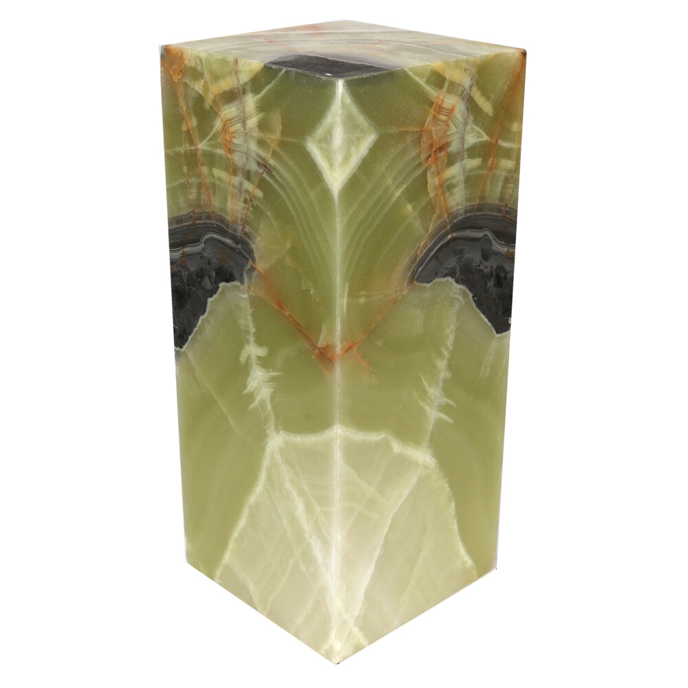 "Image 2 for Onyx Luminary - 6"" Sq. X 13.75"" Green"