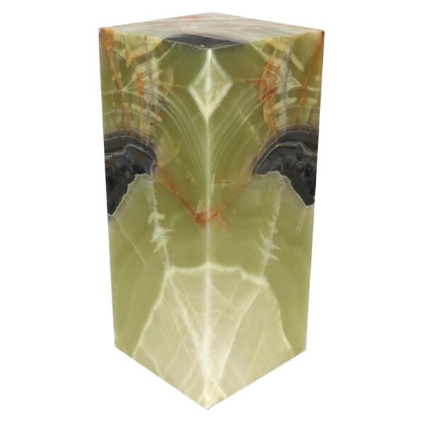 "Closeup photo of Onyx Luminary - 6"" Sq. X 13.75"" Green"