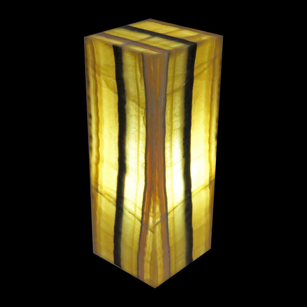 "Onyx Luminary - 6"" Sq. X 16"" Yellow With Black Stripe"