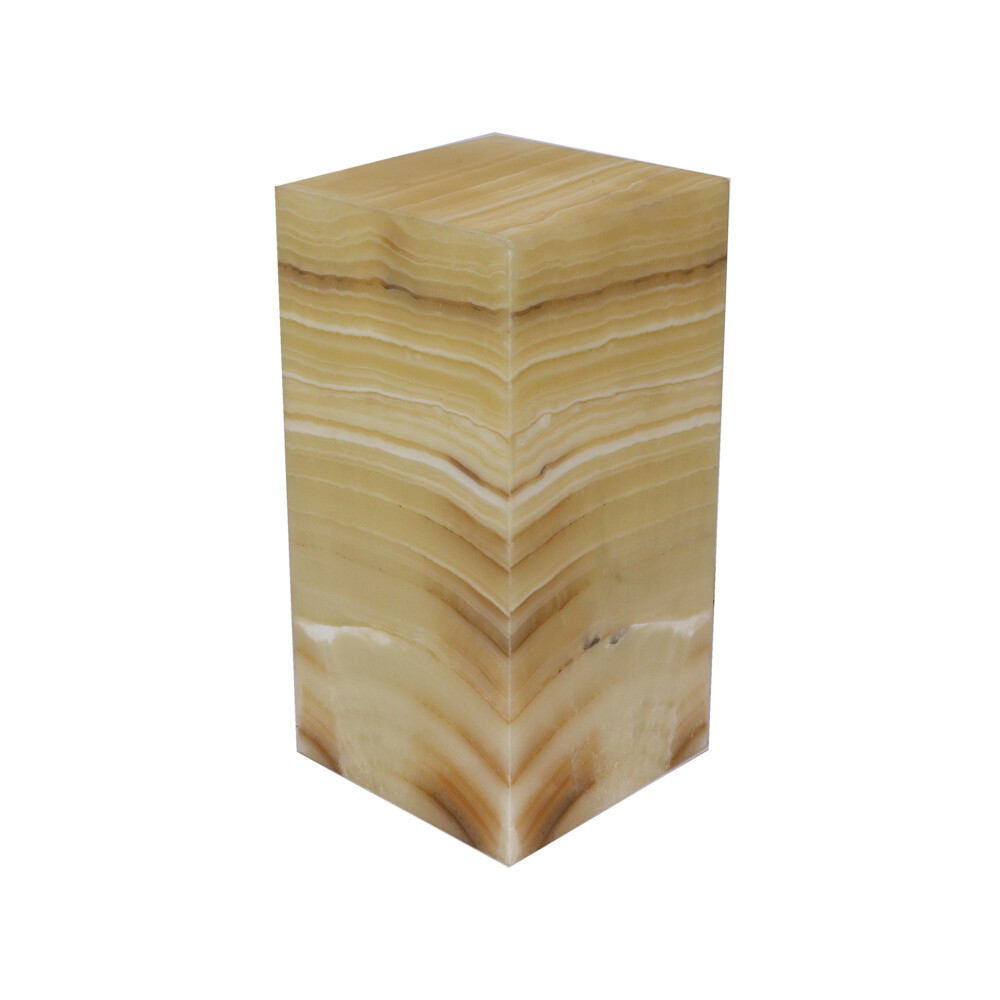 "Image 2 for Onyx Luminary - 6"" Sq. X 12"" Amber"