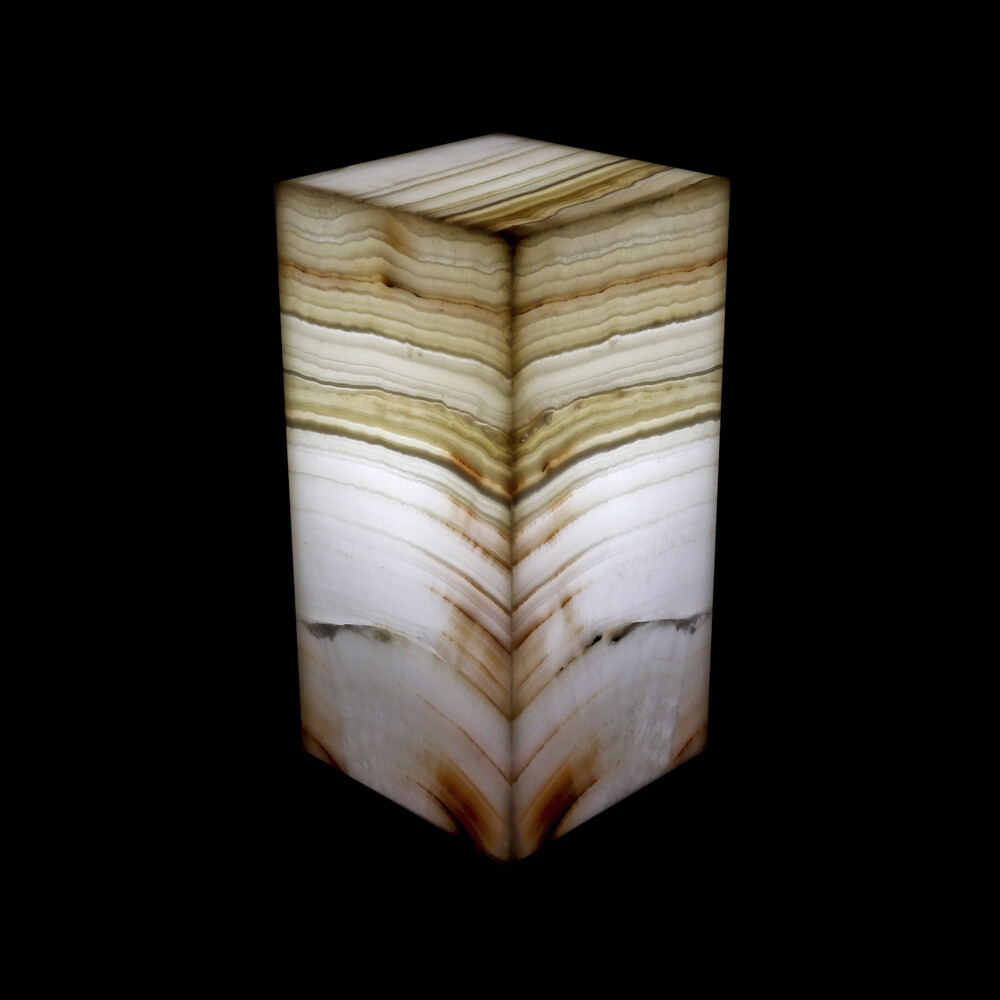 "Onyx Luminary - 6"" Sq. X 12"" Amber"