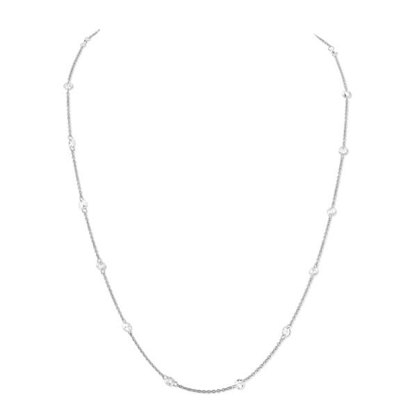 Closeup photo of Floating Rosecut Diamond Chain