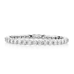 Closeup photo of Pave Diamond Eternity Band