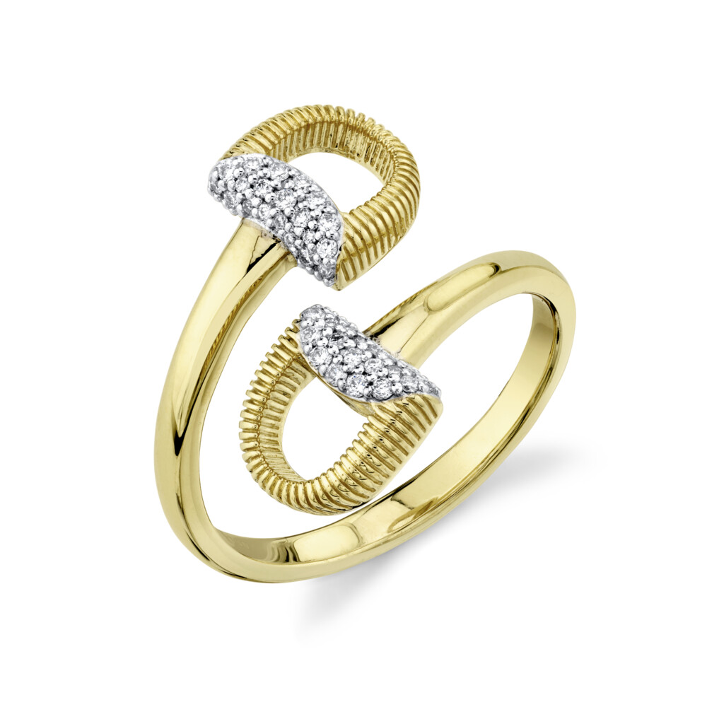 Image 2 for Double Horse Bit Wrap Around Around Ring