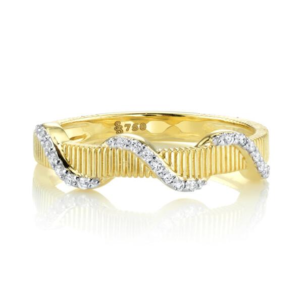 Closeup photo of Diamond Wrap Strie Ring