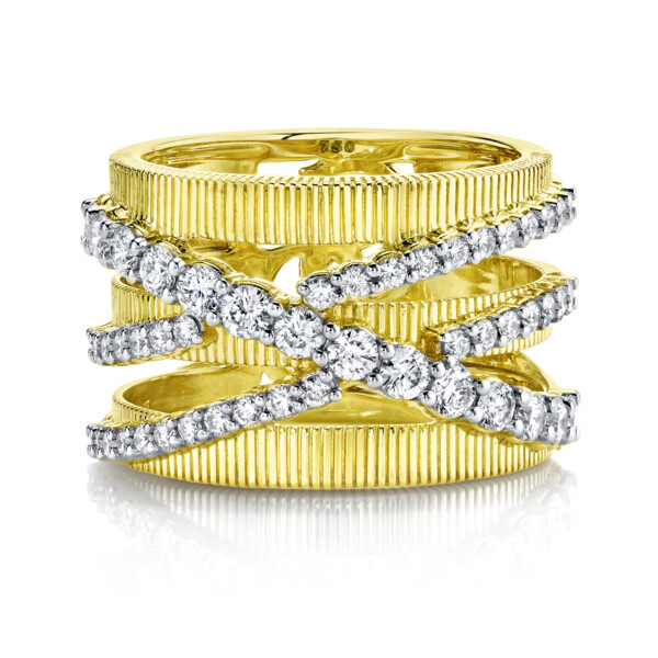 Closeup photo of Double  Diamond Crisscross Strie Band