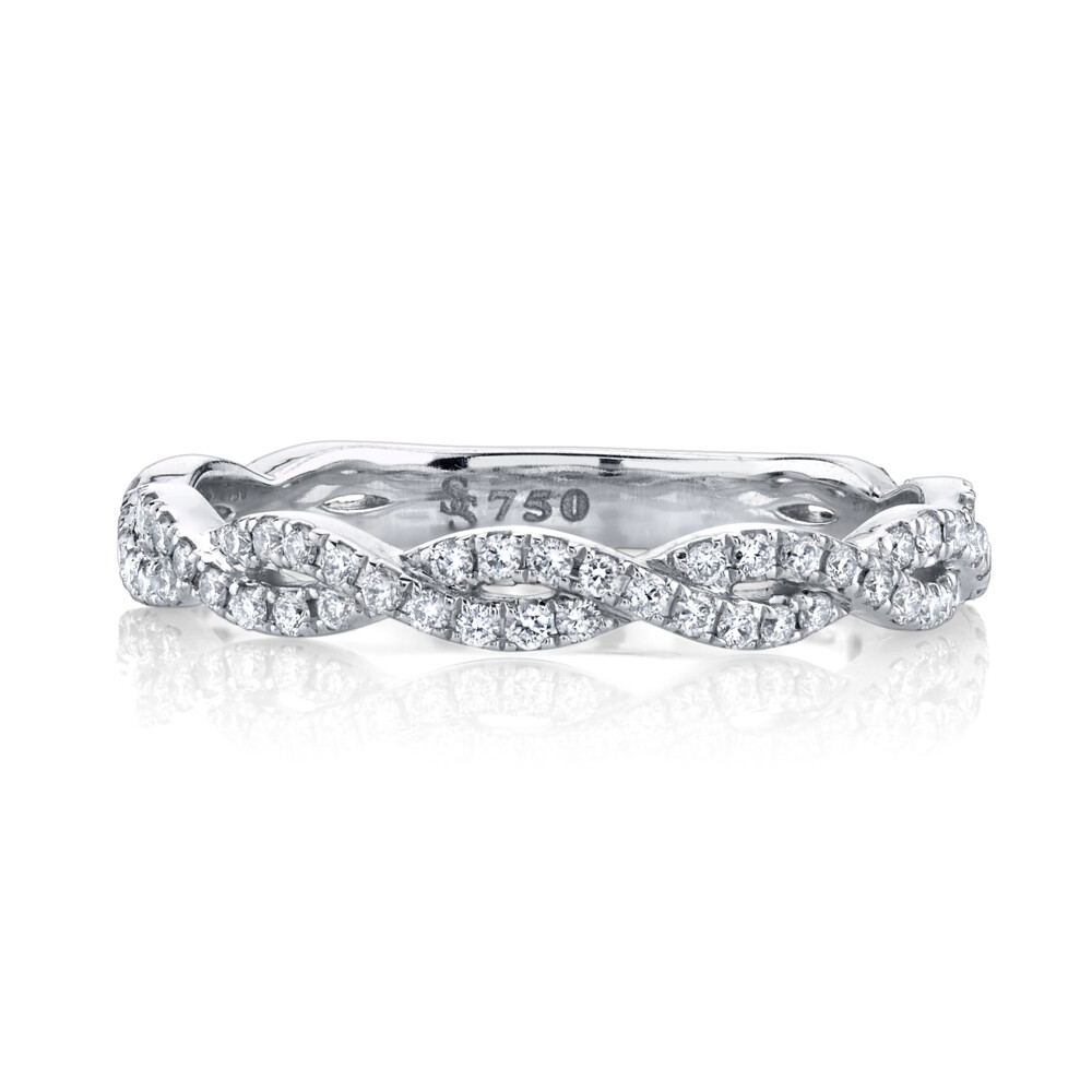 Image 2 for Pave Diamond Braided Band