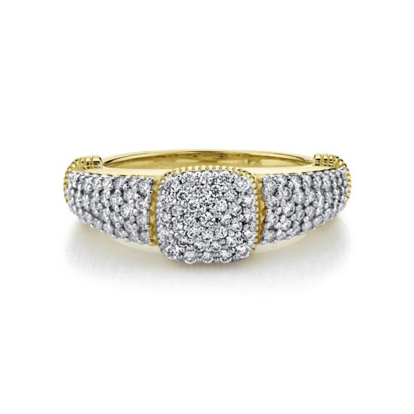 Closeup photo of Pave Diamond Pinky Ring