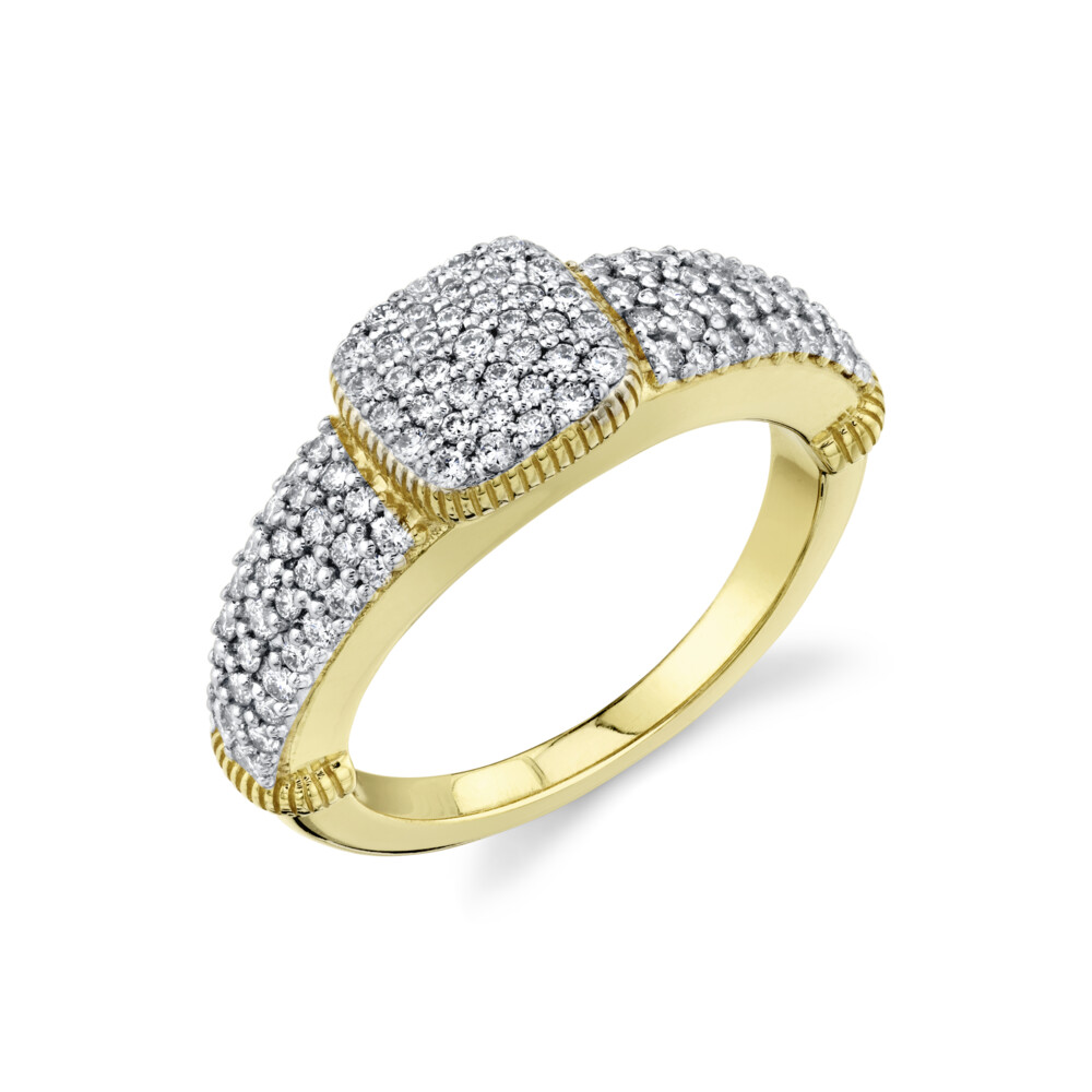 Image 2 for Pave Diamond Pinky Ring