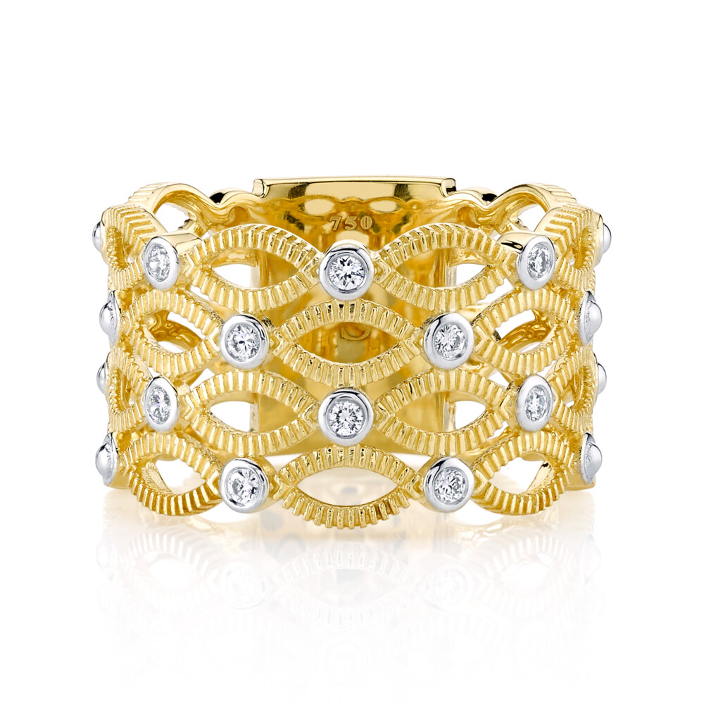 Marquis Band With Diamonds