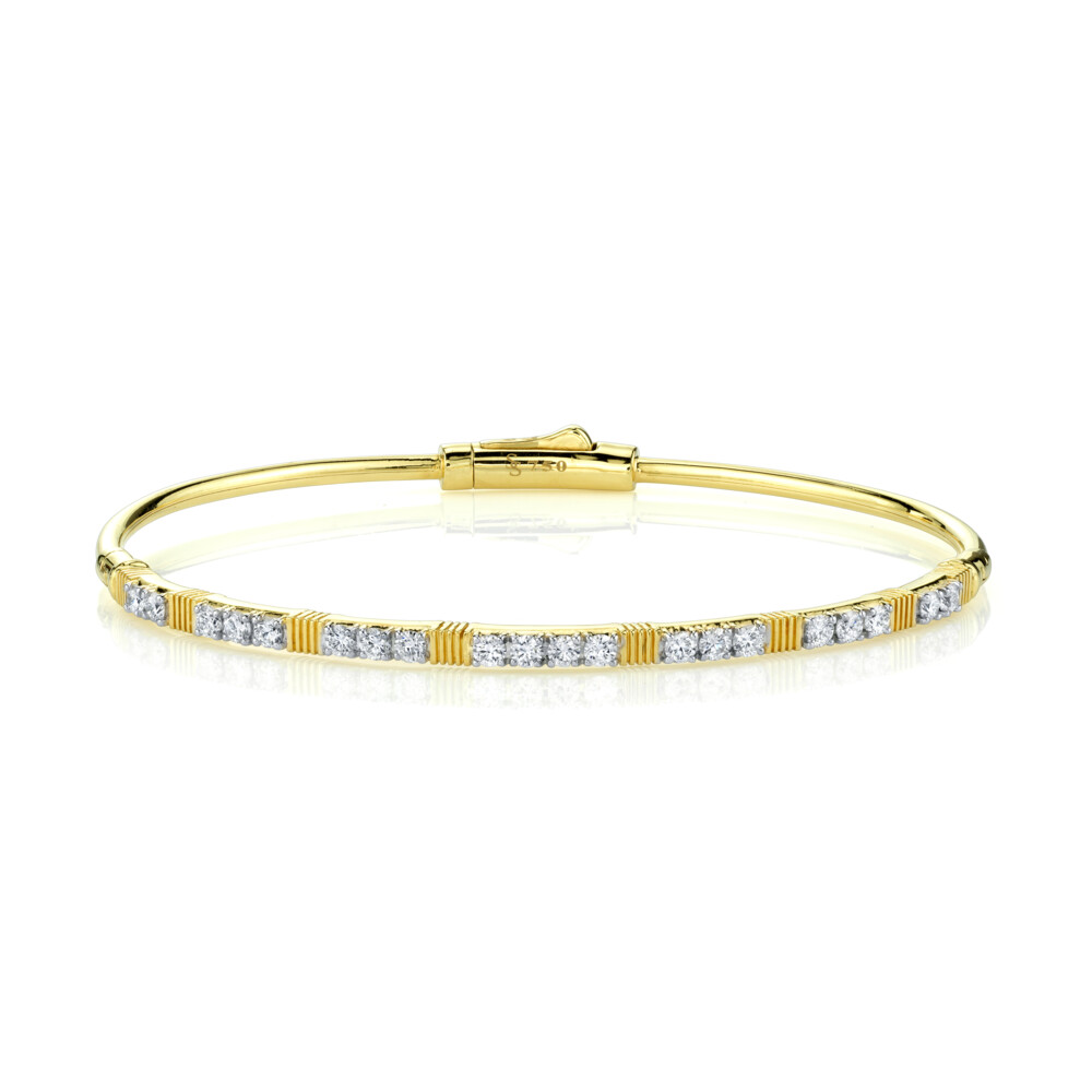Image 2 for DIAMOND AND STRIE BANGLE